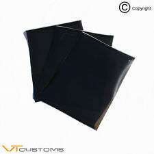 3 x A4 sheets Dark Smoke Headlight Tinting Film for Fog Lights Tint Car Vinyl