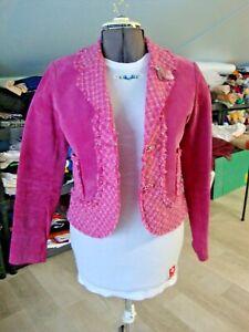 Vintage Women's Wilson's Suede Jacket with tweed trim Size S