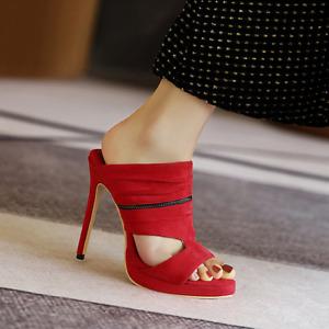 Women's High Heels Open Toe Platform Slippers Super Clubwear Sandals Plus Size