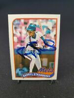 DARRYL STRAWBERRY 1989 TOPPS #300 Autographed