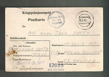 1945 Germany Us Soldier Pow Camp Postcard Cover Stalag 3C to St Louis Mo Usa