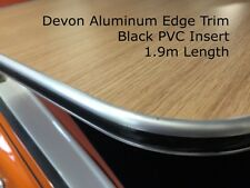 Devon Edge Aluminum Trim Black PVC Insert Furniture Edge trim American Diner