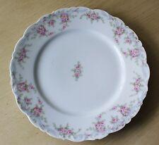 Limoges Elite Pink Floral Porcelain Plate France