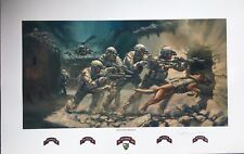 """Into the Breach"" 75th Ranger Regiment Print (Military edition) by Stuart Brown"