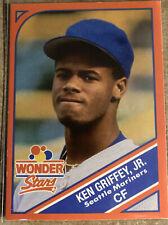 KEN GRIFFEY JR 1990 WONDER BREAD WONDER STARS #18 SEATTLE MARINERS HOF