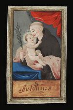 santino MINIATURA PERGAMENA 1700 S.ANTONIO DA PADOVA