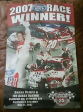 Denny Hamlin NASCAR race used trophy Banner Darlington Raceway May 11th, 07
