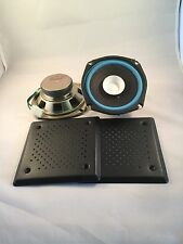 """Pair 5"""" 1/4 inch Quality Dual Cone Car Audio  with metal grills project Speakers"""
