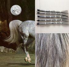 "Genuine OZ Horse False Tail 80CM 32"" Light Gray False Horse Tail EXTENDED"