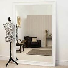 Extra Large White Modern Big Leaner Wall Mirror 6ft 9 X 4ft 9 206cm X 145cm