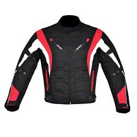 Men's Motorcycle Motorbike Jacket Waterproof Cordura CE Armoured Red