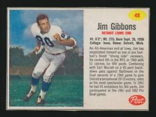 1962 Post Cereal FOOTBALL -#48 JIM GIBBONS (Detroit Lions) **SP**
