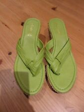 Lotus green Wedge Sandals – Size 5