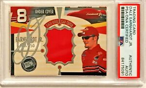 2002 Press Pass Dale Earnhardt Jr Race Used Car Cover Signed Auto Card PSA/DNA