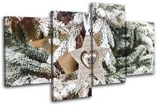 Baubles Decorations Christmas MULTI LONA pared arte Foto impresion