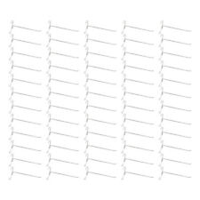 """50 Pc GLOSS WHITE 8"""" Long Gridwall Hooks Grid Panel Display Wire Metal Hanger"""