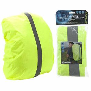 Waterproof 60L Rucksack Cover Camping Bike Bag Backpack Cycle Cycling Hi-Vis UK