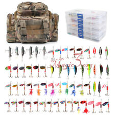 Fishing Tackle Bag 5 Boxes with Tackle Included 60 Lures Soft Lures Crankbait