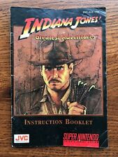 Indiana Jones Greatest Adventures Super Nintendo SNES Instruction Manual Only