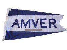 AMVER - Vintage NAVAL Flag- Marine / Nautical / Boat - SHIP'S 100% ORIGINAL(372)