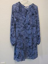 ASOS Curve Floral Pattern Dress - Womens US 16 - Blue - NWT