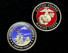 IWO JIMA US MARINES UNCOMMON VALOR WAS A COMMON VIRTUE CHALLENGE COIN GIFT VET