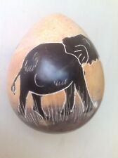 African Rock Painted Decorative Eggs shaped stone