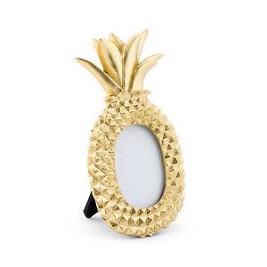 Photo Frame Mini Gold Pineapple Design 6 Pack