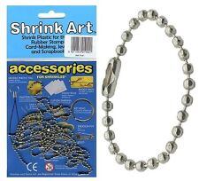16 KEYRING BALL CHAINS ACCESSORIES PACK FOR SHRINK ART MAKE YOUR OWN SHRINKLES