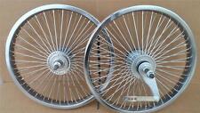 "New 16"" Lowrider Bicycle Dayton Wheels 72 spoke FrontRear Set BMX Chrome Schwinn"