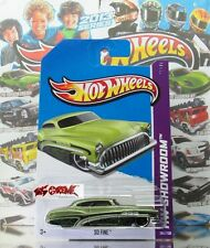 Hot Wheels 2013 #184 So Fine™ METAFLAKE GREEN,2ND COLOR,CHROME RIM,BLACK PR5,NEW