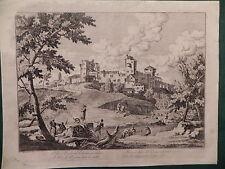 M Marco Ricci paesaggio veneto acquaforte originale 1760 Venezia Joseph Ridner