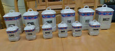 ANTIQUE COLLECTORS LDB & CO SPICE LUSTERWARE CANISTERS  MADE IN CZECHOSLOVAKIA