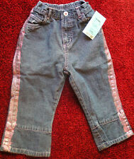 GIRLS TODDLER SIZE 24 MONTH JEANS 100% COTTON NEW WITH TAGS FREE SHIPPING