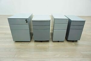 All Sizes & Styles - Grey Metal Mobile Under Desk Office Pedestals