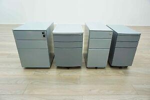 All Sizes & Styles - Grey Metal Mobile Under Desk Office Pedestals