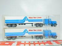 BN27-0,5# 2x Wiking H0/1:87 527 29 US-/USA-Truck/Sattelzug Peterbilt, NEUW+OVP
