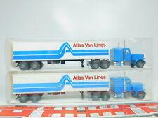 bn27-0, 5 #2x Wiking H0 / 1:87 527 29 US usa-truck / Lorry Peterbilt, NIP