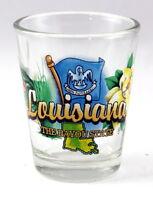 LOUISIANA BAYOU STATE ELEMENTS SHOT GLASS SHOTGLASS