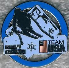 2014 Sochi Blue Ring USA Olympic Alpine Skiing Team NOC Sports Pin