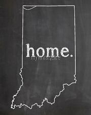 """INDIANA HOME STATE PRIDE 2"""" x 3"""" Fridge MAGNET CHALKBOARD CHALK COUNTRY"""