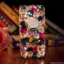 3D Luxury Fox Bling Crystal Rhinestone Diamonds Gems Hard Back Phone Case Cover
