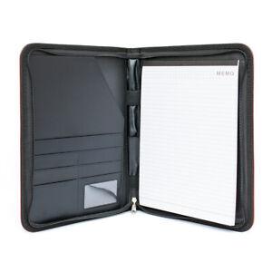 Conference Folder A4 Clipboard Leather Portfolio Document Organise UK