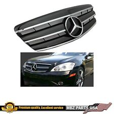 S-Class 07 08 09 black grille glossy star bumper w221 AMG Benz S550 S63 S450 S65