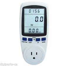 Power Meter Monitor Energy Watt Voltage Amps Meter with Electricity