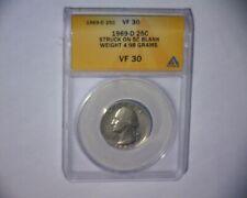 1969 D Washington Quarter Struck On A Nickel Planchet 4.98 Grams Us Error Coin