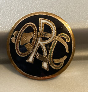 VINTAGE ORC ORDER OF RAILWAY CONDUCTORS WITH TICKET PUNCH LOGO UNION LABEL PIN