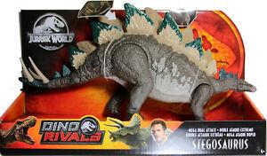 Jurassic World ~ MEGA DUAL ATTACK STEGOSAURUS ACTION FIGURE ~ Dino Rivals
