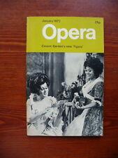 Opera magazine January 1972 (Vol.23 No.1)  VGC