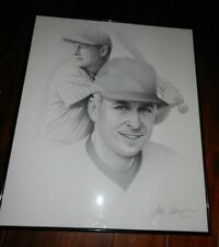 Gary Saderup (Cal Ripken and Lou Gehrig) Charcoal Drawing Framed Yankees Orioles